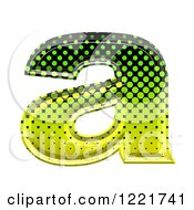 Clipart Of A 3d Gradient Green And Black Halftone Lowercase Letter A Royalty Free Illustration