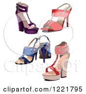 Clipart Of High Heels Royalty Free Vector Illustration