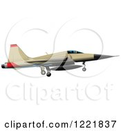 Clipart Of A Military Jet Royalty Free Vector Illustration