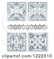 Clipart Of Ornamental Designs Royalty Free Vector Illustration by leonid