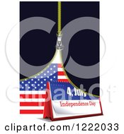 Clipart Of A Zipper Revealing A Flag And 4th Of July Desk Calendar Royalty Free Vector Illustration