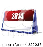 Clipart Of A 2014 Year Desk Calendar Royalty Free Vector Illustration