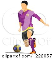Clipart Of A Male Soccer Player Royalty Free Vector Illustration