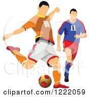 Clipart Of Male Soccer Players Royalty Free Vector Illustration