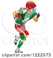 Clipart Of An American Football Player Royalty Free Vector Illustration by leonid
