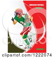Clipart Of An American Football Player With Text Royalty Free Vector Illustration by leonid