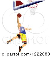 Clipart Of A Male Basketball Player Royalty Free Vector Illustration