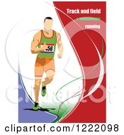 Clipart Of A Track And Field Runner With Text Royalty Free Vector Illustration by leonid