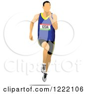 Clipart Of A Track And Field Runner Royalty Free Vector Illustration