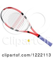 Clipart Of A Tennis Ball And Racket Royalty Free Vector Illustration