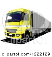 Clipart Of A Big Rig Truck Royalty Free Vector Illustration