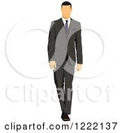Clipart Of A Businessman In A Suit And Tie Royalty Free Vector Illustration
