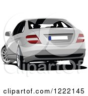 Clipart Of A White Car Royalty Free Vector Illustration