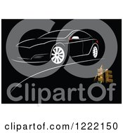 Clipart Of A Black Car Background Royalty Free Vector Illustration