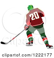 Clipart Of A Hockey Player Royalty Free Vector Illustration