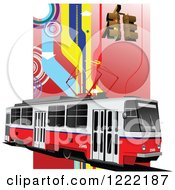 Clipart Of A Tram Royalty Free Vector Illustration by leonid