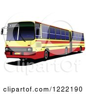 Clipart Of A Bus Royalty Free Vector Illustration