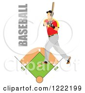 Baseball Player With Text