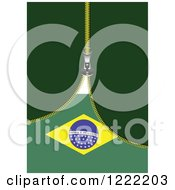 Zipper Revealing A Brazilian Flag