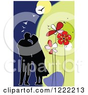 Loving Couple With Flowers