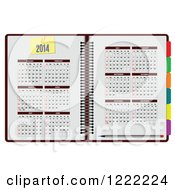 Clipart Of A 2014 Planner Organizer Book Royalty Free Vector Illustration by leonid