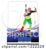 Biathlon Skier With Text