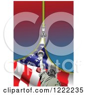Zipper Revealing An American Flag And Statue Of Liberty