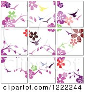 Floral Tile Background