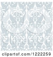 Clipart Of An Ornate Seamless Art Nouveau Pattern Background Royalty Free Vector Illustration by AtStockIllustration