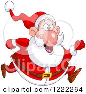Chubby Cheerful Santa Claus Running
