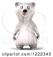 Clipart Of A 3d Happy Polar Bear Mascot Royalty Free Illustration