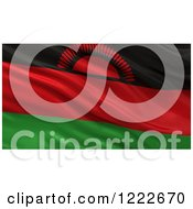 Clipart Of A 3d Waving Flag Of Malawi With Rippled Fabric Royalty Free Illustration