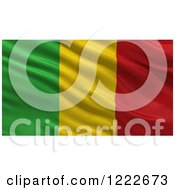 Clipart Of A 3d Waving Flag Of Mali With Rippled Fabric Royalty Free Illustration