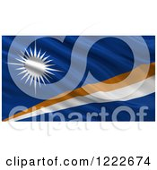 Clipart Of A 3d Waving Flag Of Marshall Islands With Rippled Fabric Royalty Free Illustration