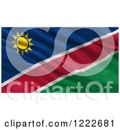 Clipart Of A 3d Waving Flag Of Namibia With Rippled Fabric Royalty Free Illustration