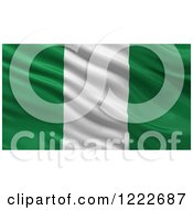 Clipart Of A 3d Waving Flag Of Nigeria With Rippled Fabric Royalty Free Illustration