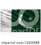 Clipart Of A 3d Waving Flag Of Pakistan With Rippled Fabric Royalty Free Illustration