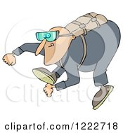 Clipart Of A Man Falling While Sky Diving Royalty Free Illustration by djart