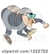 Clipart Of A Skydiving Man Royalty Free Illustration