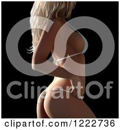 Clipart Of A Blond Woman In A G String Bikini Royalty Free Vector Illustration