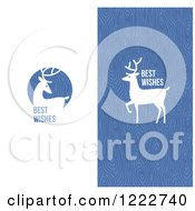 Clipart Of Reindeer With Best Wishes Greetings Royalty Free Vector Illustration by elena