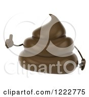 Clipart Of A 3d Milk Chocolate Or Poop Character Holding A Thumb Up 2 Royalty Free Illustration