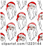 Clipart Of A Seamless Background Pattern Of Santas Royalty Free Vector Illustration