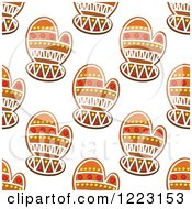 Clipart Of A Seamless Background Pattern Of Mitten Shaped Christmas Gingerbread Cookies Royalty Free Vector Illustration by Vector Tradition SM