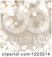 Clipart Of A Christmas Background Of Golden Bokeh Flares Royalty Free Vector Illustration