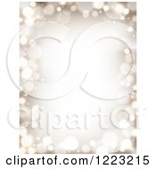 Clipart Of A Christmas Border Of Golden Bokeh Flares Royalty Free Vector Illustration