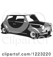 Clipart Of A Mini Cooper Car Royalty Free Vector Illustration