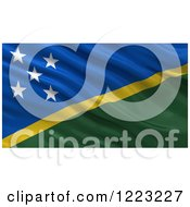 Clipart Of A 3d Waving Flag Of Solomon Islands With Rippled Fabric Royalty Free Illustration