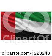 Clipart Of A 3d Waving Flag Of United Arab Emirates With Rippled Fabric Royalty Free Illustration