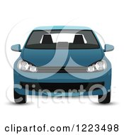 Clipart Of A Blue Car Royalty Free Vector Illustration by vectorace
